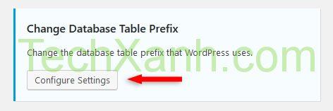 change database table prefix