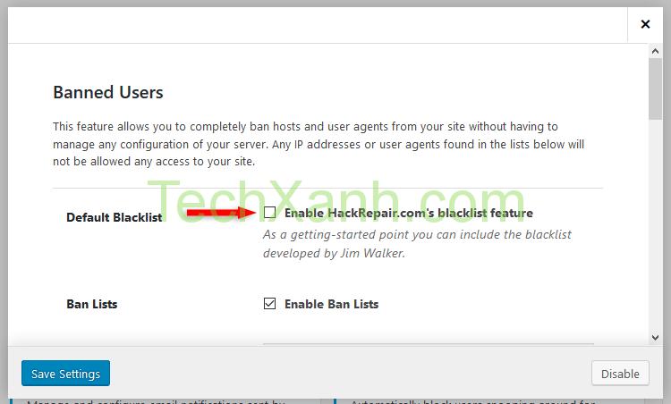 enable ip blacklist