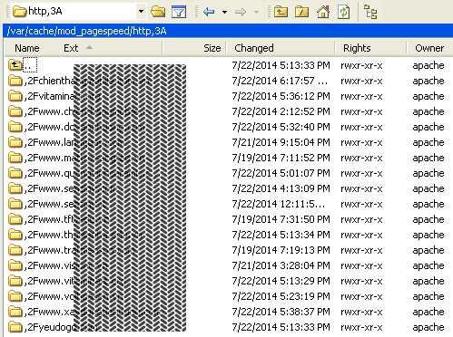 Cách đơn giản để clear cache cho module pagespeed của apache