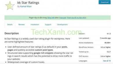 Photo of KK Star Ratings – Plugin free đánh giá bài viết tốt nhất cho WordPress 2020
