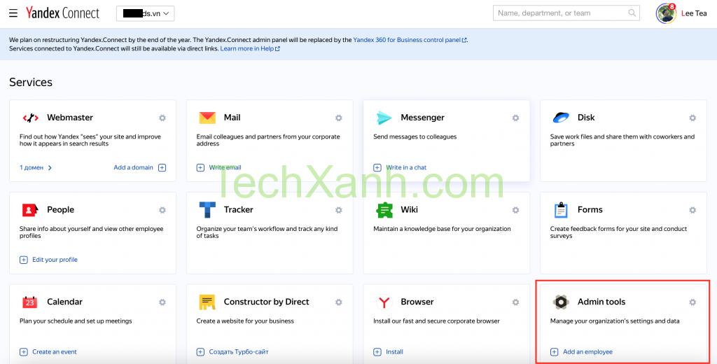 Bang Quan Tri Yandex Connect Cau Hinh Yandex Mail Ten Mien Rieng